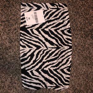 zebra print tube top NWT